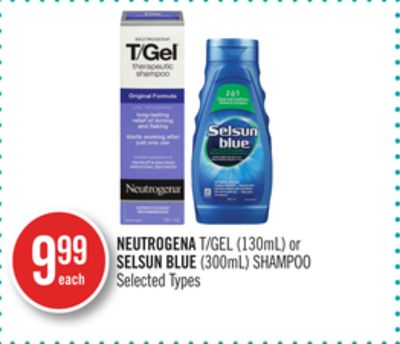 Neutrogena T/gel (130ml) or Selsun Blue (300ml) Shampoo