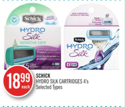 Schick Hydro Silk Cartridges 4's