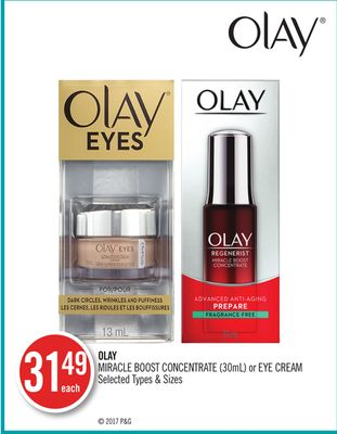 Olay Miracle Boost Concentrate (30ml) or Eye Cream