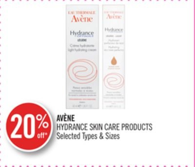 Avène Hydrance Skin Care Products