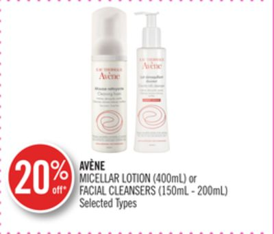 Avène Micellar Lotion (400ml) or Facial Cleansers (150ml - 200ml)