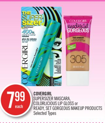 Covergirl Supersizer Mascara - Colorlicious Lip Gloss or Ready - Set Gorgeous Makeup Products