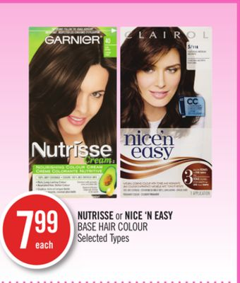 Nutrisse or Nice 'N Easy Base Hair Colour