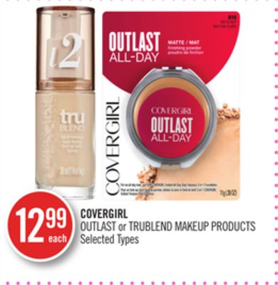 Covergirl Outlast or Trublend Makeup Products