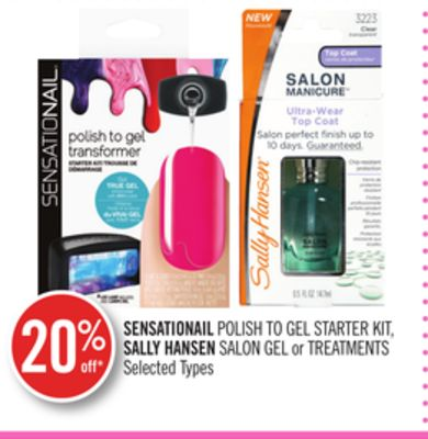 Sensationail Polish To Gel Starter Kit - Sally Hansen Salon Gel or Treatments