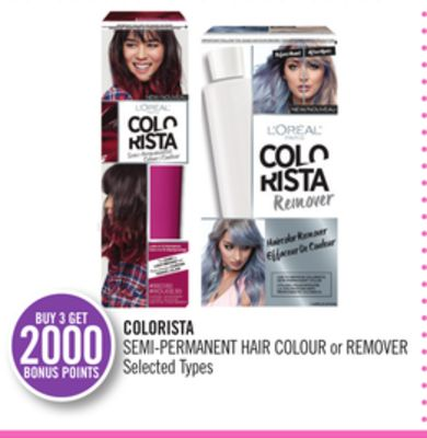 Colorista Semi-permanent Hair Colour or Remove