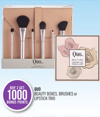 Quo Beauty Boxes - Brushes or Lipstick Trio