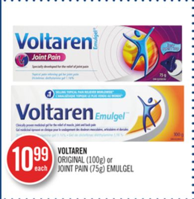 Voltaren Original (100g) or Joint Pain (75g) Emulgel