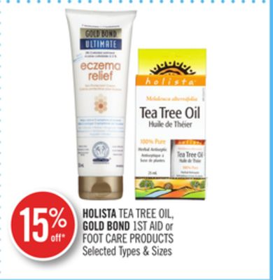 Holista Tea Tree Oil - Gold Bond 1st Aid or Foot Care Products