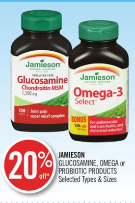 Jamieson Glucosamine - Omega or Probiotic Products