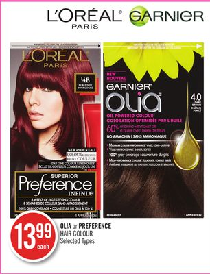 Olia or Preference Hair Colour