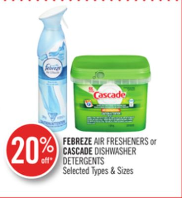 Febreze Air Fresheners or Cascade Dishwasher Detergents
