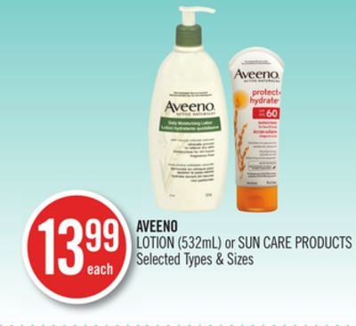 Aveeno Lotion or Sun Care Products