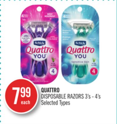 Quattro Disposable Razors