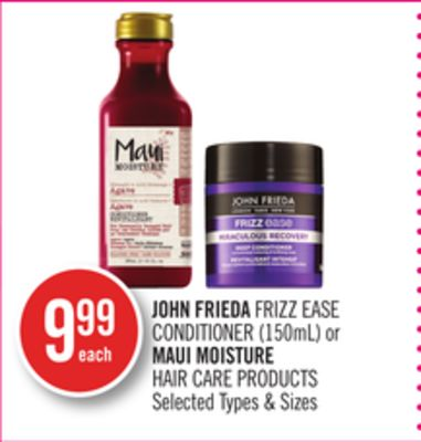 John Frieda Frizz Ease Conditioner (150ml) or Maui Moisture Hair Care Products
