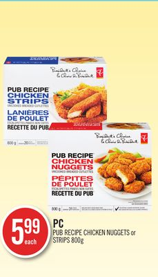 PC Pub Recipe Chicken Nuggets or Strips 800g
