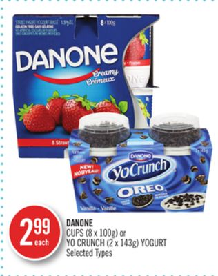 Danone Cups (8 X 100g) or Yo Crunch (2 X 143g) Yogurt