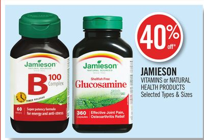 Jamieson Vitamins or Natural Health Products