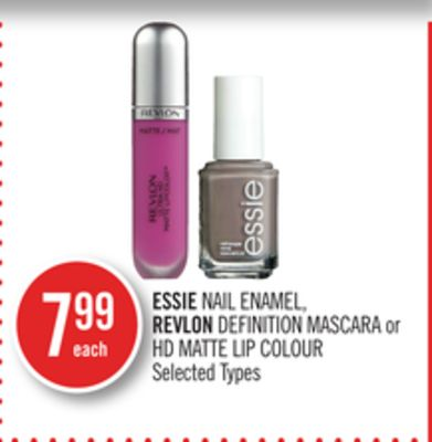 Essie Nail Enamel - Revlon Definition Mascara or Hd Matte Lip Colour