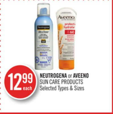 Neutrogena or Aveeno Sun Care Products