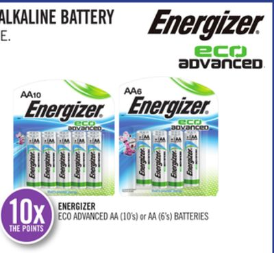 Energizer Eco Advanced Aa (10's) or Aa (6's) Batteries