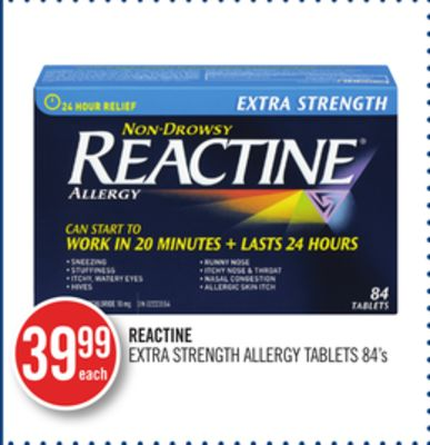 Reactine Extra Strength Allergy Tablets