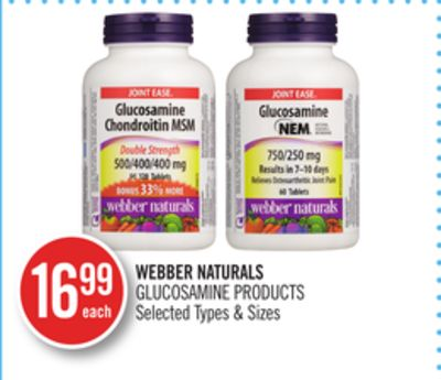 Webber Naturals Glucosamine Products