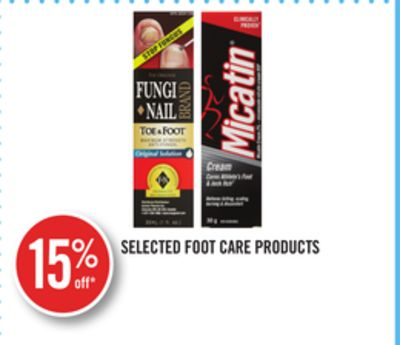 Selected Foot Care Products