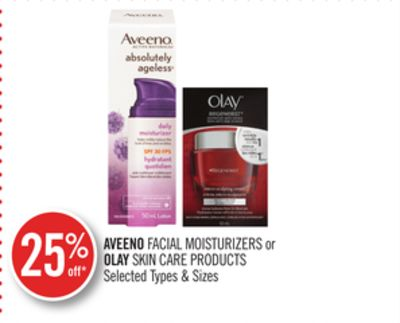 Aveeno Facial Moisturizers or Olay Skin Care Products