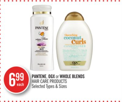 Pantene - Ogx or Whole Blends Hair Care Products