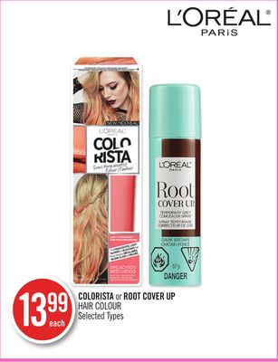 L'oreal Colorista or Root Cover Up Hair Colour