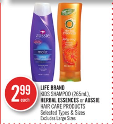 Life Brand Kids Shampoo (265ml) - Herbal Essences or Aussie Hair Care Products