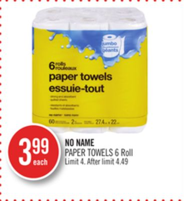 No Name Paper Towels