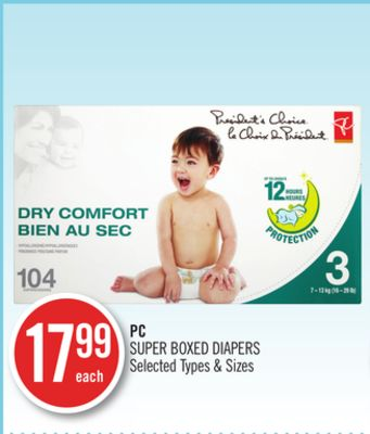 PC Super Boxed Diapers