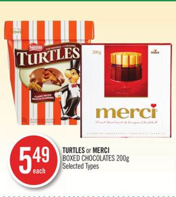 Turtles or Merci Boxed Chocolates