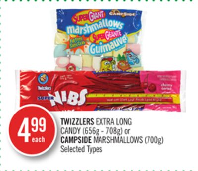 Twizzlers Extra Long Candy (656g - 708g) or Campside Marshmallows (700g)