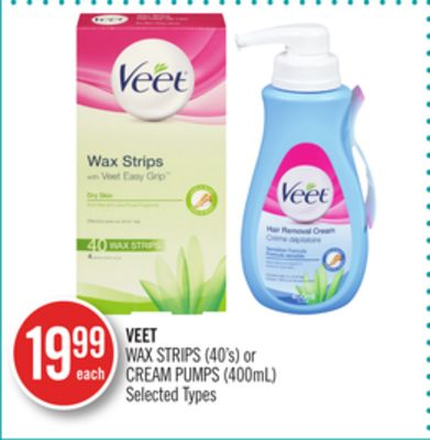 Veet Wax Strips (40's) or Cream Pumps (400ml)