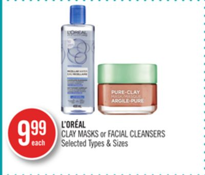 L'oréal Clay Masks or Facial Cleansers