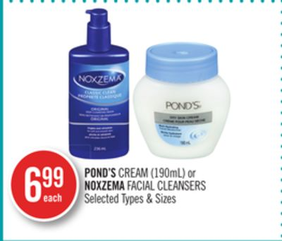 Pond's Cream (190ml) or Noxzema Facial Cleansers