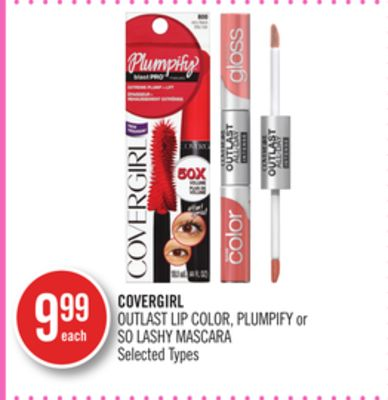 Covergirl Outlast Lip Color - Plumpify or So Lashy Mascara