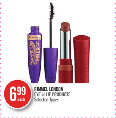 Rimmel London Eye or Lip Products
