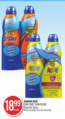 Banana Boat Sun Care Twin Packs