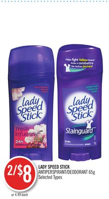 Lady Speed Stick Antiperspirant/deodorant