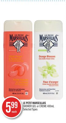Le Petit Marseillais Shower Gel or Creme