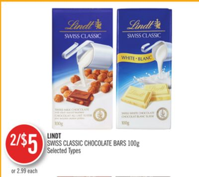 Lindt Swiss Classic Chocolate Bars
