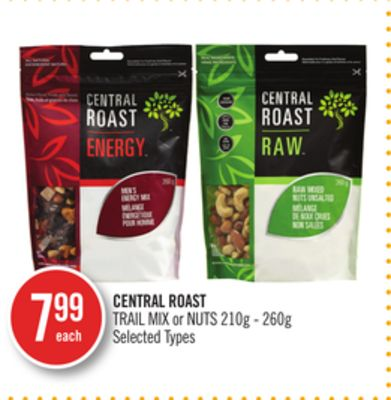 Central Roast Trail Mix or Nuts