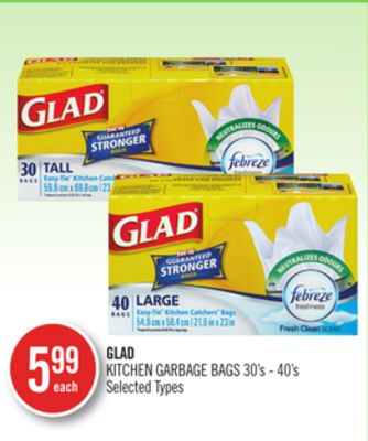 Glad Kitchen Garbage Bags 30's - 40's