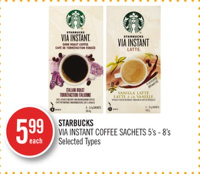 Starbucks Via Instant Coffee Sachets