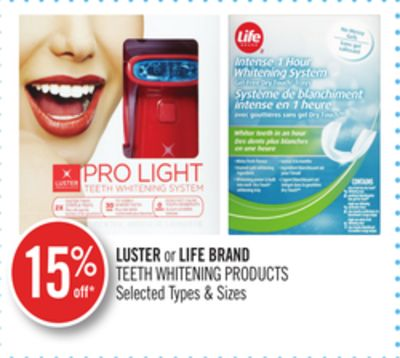 Luster or Life Brand Teeth Whitening Products