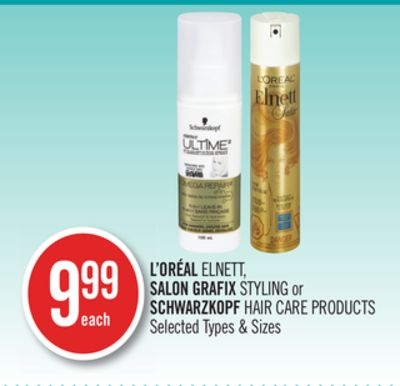 L'oréal Elnett - Salon Grafix Styling or Schwarzkopf Hair Care Products